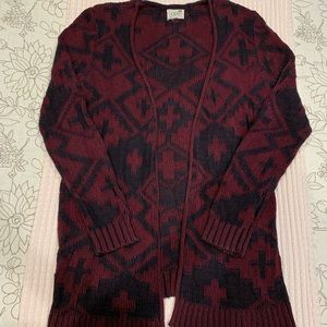 PacSun Maroon Cardigan Size S